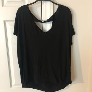 Black Express Exposed Back Tee - Size L